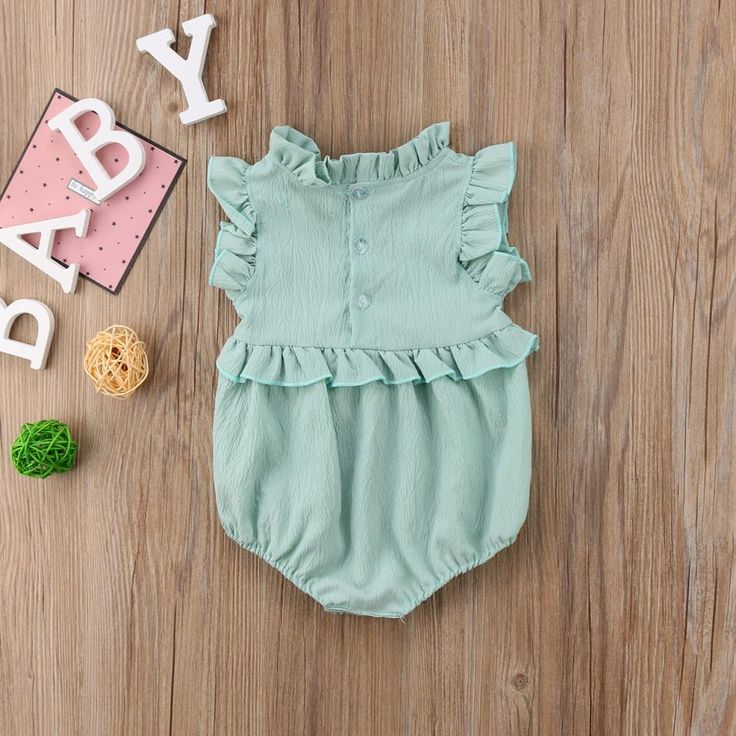 Sewing Baby Girl Baby Girl Sleeveless Ruffle Romper Bloomer For Infant Cute Newborn Baby Girl, Baby Girl Romper, Baby Girls, Baby Girl Jumpsuit, Newborn Girls, Infant Girls, Boho Baby, Infant Toddler, Baby Outfits