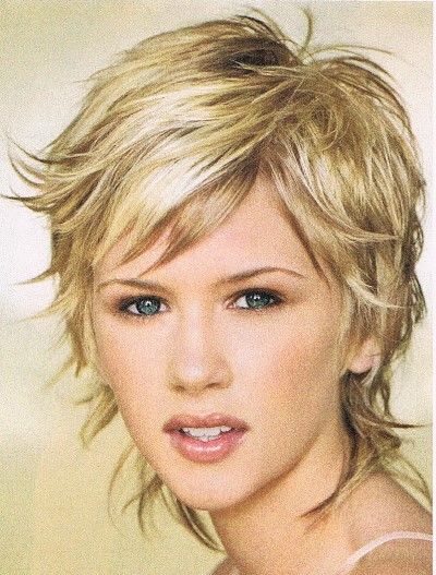Short Shag for Fine Hair | Hairstyle Creator on Hairstyle For Fine Hair A Graduated Cut One Way ...