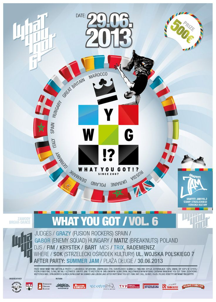 """""""What You Got"""" Bboying competition poster"""