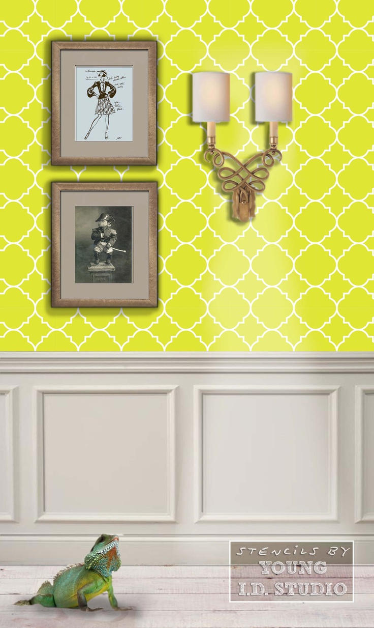 9 best Stencils images on Pinterest | Wall stenciling, Stencils for ...