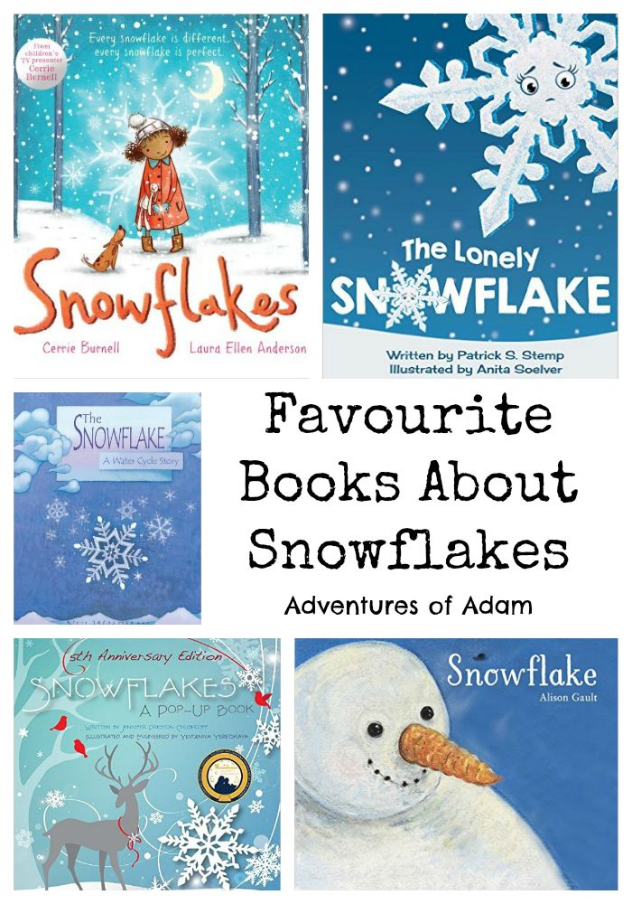To get Adam in the mood for snow we have been reading snowflake related books. Here are five of our favourite snowflake books for preschoolers.