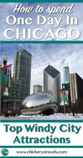 Top things to do in Chicago. Only have one day in Chicago, read about the best attractions in the windy city. Even in the winter, Chicago has a lot to offer. Travel to Chicago and enjoy the iconic skyline, art, and pizza! Plan your one day Chicago itinerary with these great travel ideas. #Chicago #travelUSA #MilleniumPark #ChicagoInstituteOfArt #Skydeck
