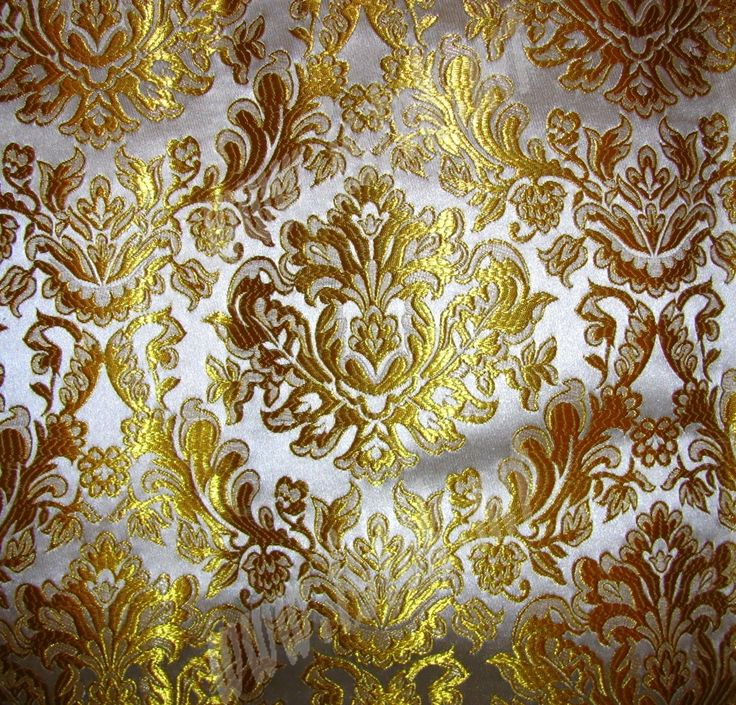 Liturgical Fabrics White Gold Imperial Metallic Brocade