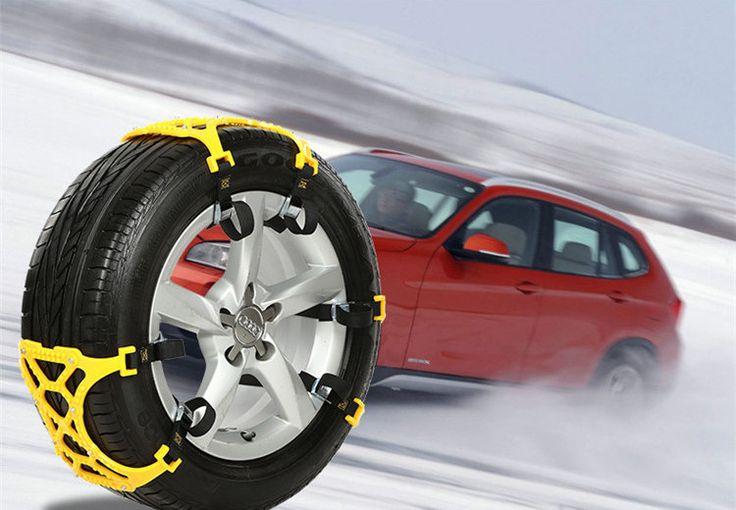 Mobil darurat 1 Piece TPU Rantai Salju Universal Mobil Ban Lumpur Tanah Musim Dingin Jalan Keselamatan Chains Salju Climbing Anti Slip