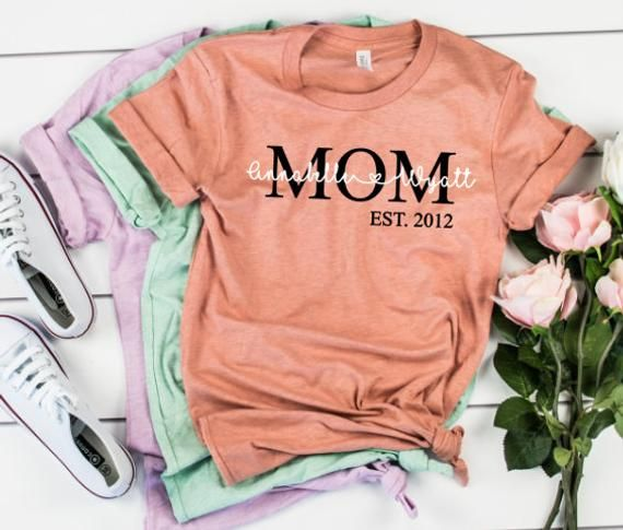 Mom Established Shirt Mom Tshirt Mom Shirt New Mom Shirt Mother S Day Shirt Mother S Day Tshirt Customized Mom Shirt Kids Names In 2020 Mom Shirts Mothers Day Shirts Mom Tshirts