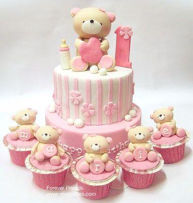 Mom & Daughter Tortas: Tortas precioso Osos de cumpleaños para niños