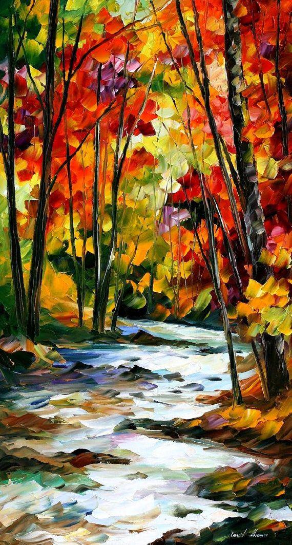 Swirling Stream — PALETTE KNIFE Oil Painting On Canvas By Leonid Afremov #afremov #leonidafremov #art #paintings #fineart #gifts #popular #colorful