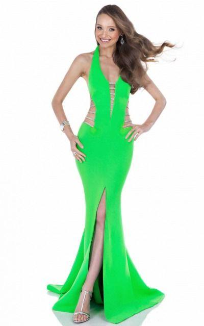 Mermaid Halter Natural Sleeveless Asymmetrical Prom Dresses