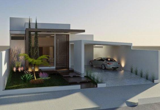 Decor Salteado - Blog de Decoração   Design   Arquitetura   Paisagismo: Fachadas de Casas Térreas – veja 20 modelos modernos e bonitos!: