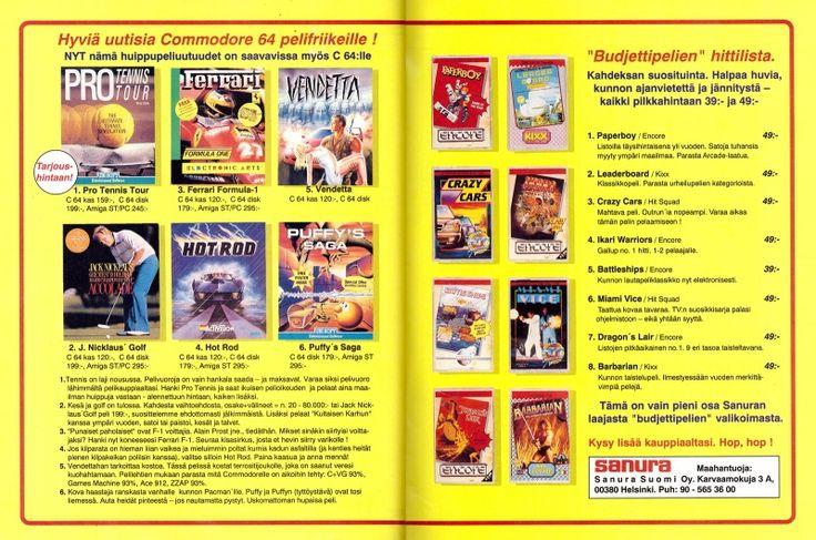 Sanura ad in the MikroBitti magazine (5/90).