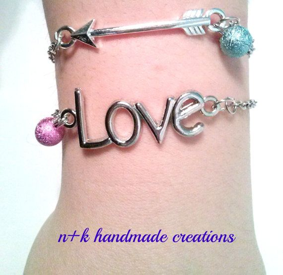 Handmade silver chain bracelet. by thenkcreations on Etsy