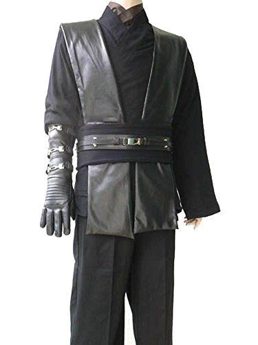 Deluxe Black Anakin Star Wars Jedi Sith Costume Tunic Robe Belt Pouchs Capsules M >>> BEST VALUE BUY on Amazon