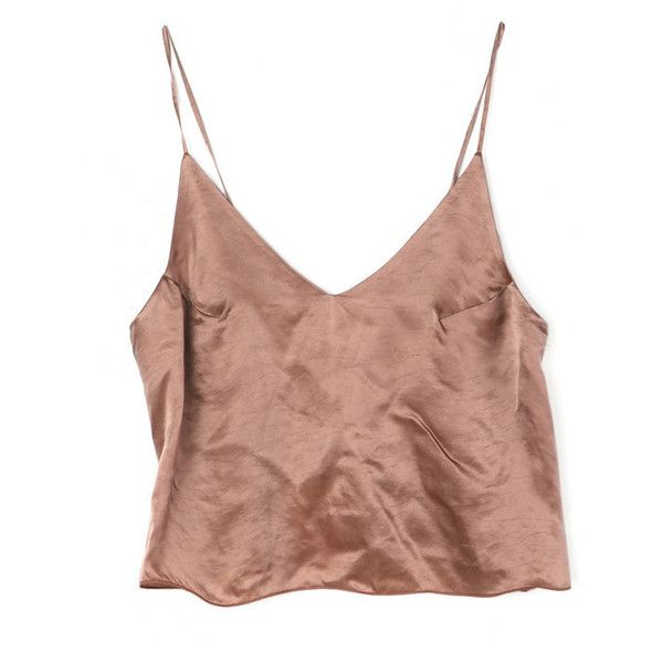 Nude Cami Tank Top (860 BRL) ❤ liked on Polyvore featuring tops, shirts, crop top, tank tops, crop tank, spaghetti strap tank, low back shirt, spaghetti strap shirt and cami crop top