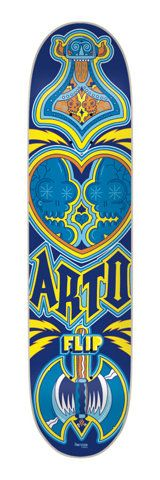 Flip Skateboards: Decks: 8.50 x 32.88 Saari PinkyVision Eight Five Deck