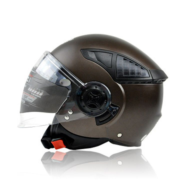 Find More Helmets Information about 2016 Vintage Motorcycle Half Face Scooter Helmet For Women and Mens Moto Cruiser Helmets Double Visor  Retro Pilot Helmets Dot ,High Quality helmet double,China helmet for Suppliers, Cheap scooter helmet from running with flower on Aliexpress.com