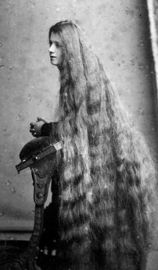 The Victorian obsession with long hair.                                                                                                                                                                                 More