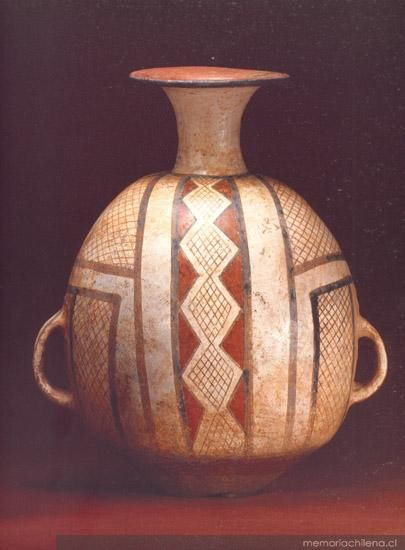 Aríbalo cultura Diaguita-Inka  Fase III (1470-1536 d.C.)- Chile