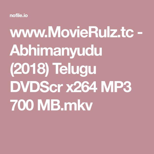 Wwwmovierulztc Abhimanyudu 2018 Telugu Dvdscr X264 Mp3 700 Mb