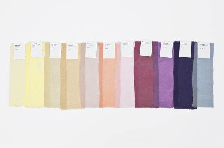 Hand dyed silk scarves (derived from vegetable pigments) byRaw Color.