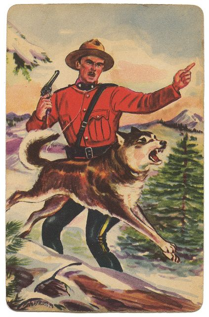 """Sgt. Preston of the Yukon"" Adventure Card, 1950's Quaker Puffed Rice Cereal"