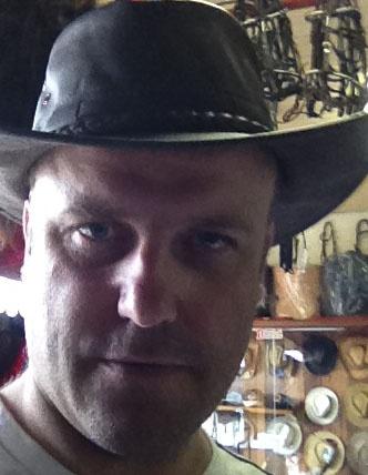 In the cowboy shop.