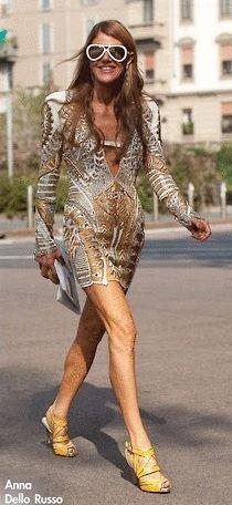Anna Dello Russo wearing Chrissie Morris
