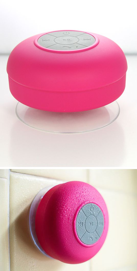 Bluetooth shower speaker. Yes and no, because I mean, can't we put the phone down for enough time to take a shower?! Now if it's to blast some music, then I'm game!