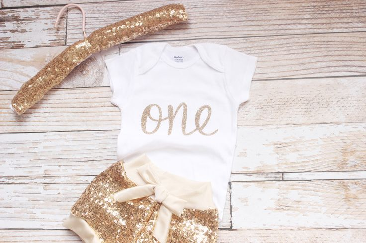 Gold Sequin shorts, baby sequin shorts, first birthday, glitter. gold shorts, by NylaMarieKids on Etsy https://www.etsy.com/listing/237593357/gold-sequin-shorts-baby-sequin-shorts
