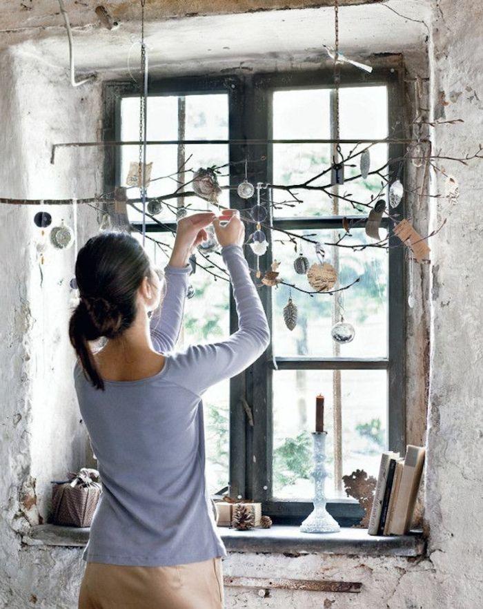 Tolle Bastelideen Für Erwachsenen   Originelle Weihnachtsdeko Fenster