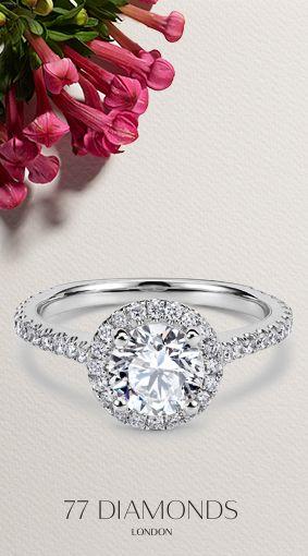 #Vintage #Halo #Enagement #Rings #Spring #Flowers http://www.77diamonds.com/halo_rings.html?itm=aphrodite