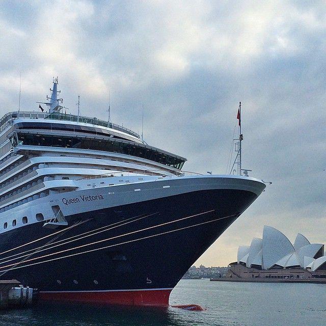 Queen Victoria Cruise Ship visiting Sydney. #sydneylove #queenvictoriacruiseship