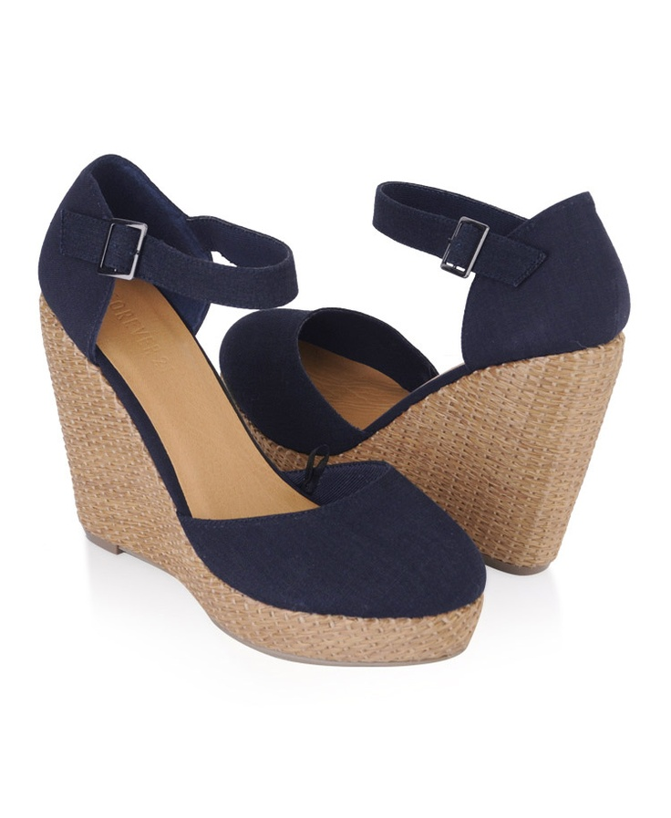 Linen-Blend wedges? Yes, please. $26.80