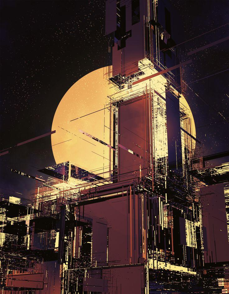 ArtStation - Abstract City - concept art, Long Pham