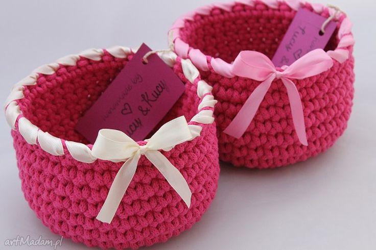 Kosz mini dark pink pudełka lucy and kucy koszyczek
