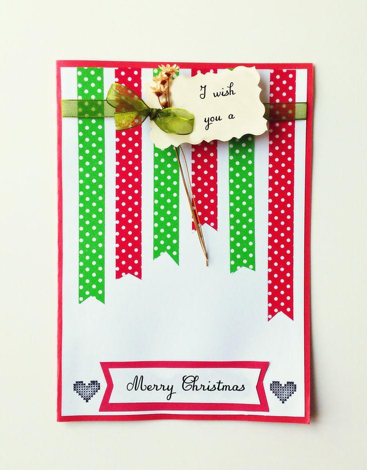 Handmade christmas card | Cards...cards...cards... | Pinterest