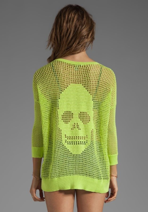modele tricot pull tete de mort