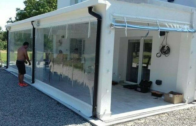 Waterproof Commercial Grade 0 5mm Vinyl Clear Awning Canopy Patio Enclosure Unbranded In 2020 Patio Enclosures Patio Awning Canopy