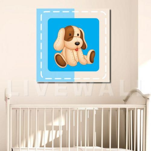 παιδικος καμβάς σκυλάκι για αγόρι
