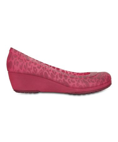 Take a look at this Plum & Candy Pink Carlisa Animal Mini Wedge - Women  today!