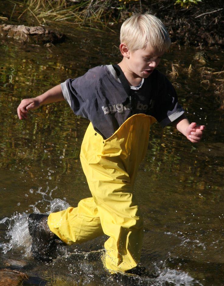 Suse's Kinder Rain Pants Bib Overalls for Kids