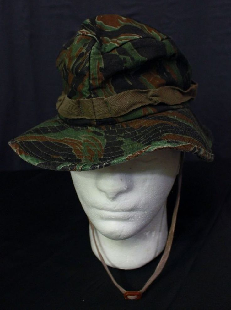 Camo Bucket Hat Cap Green Sun Protection Made in USA Fishing Hunting Military # #Bucket