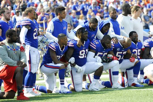 President Donald Trump on Monday reiterated his criticism of NFL players who knelt during the national anthem, pushing back against suggestions that race drove his calls for those football players to be fired.