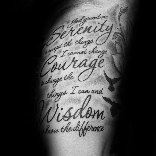 Best 25+ Serenity Prayer Tattoo Ideas On Pinterest