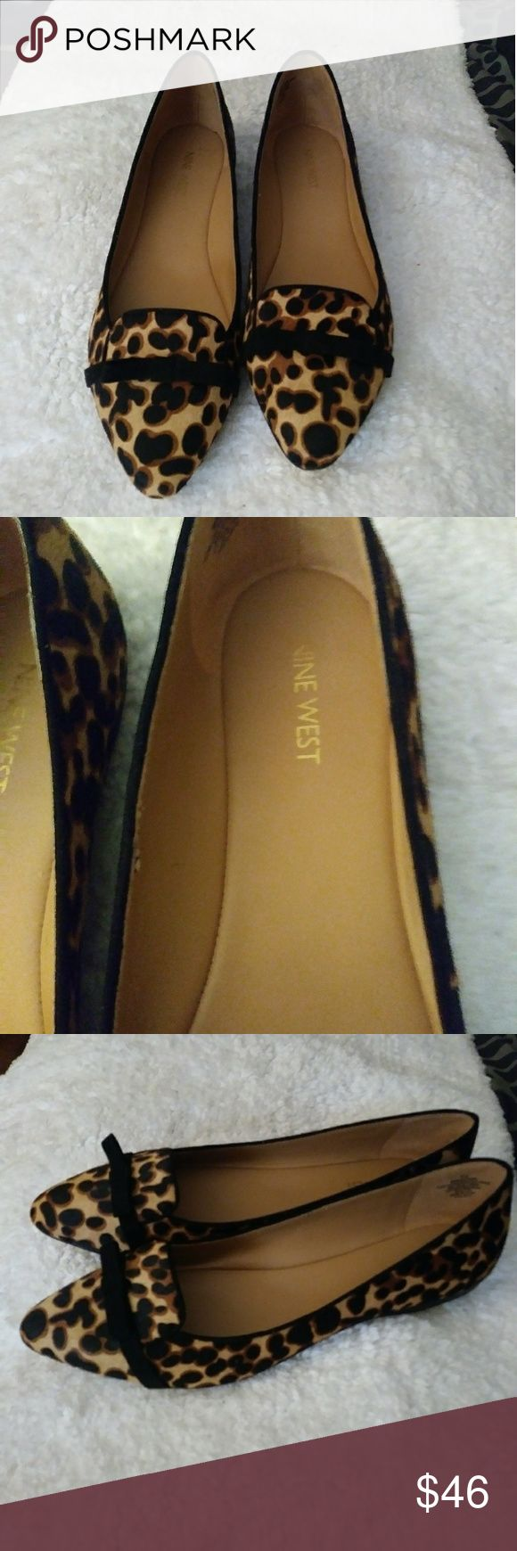 Nine West cow leather smoking flat shoes Fabulous Nine West cow leather smoking flat shoes. Leopard print Real fur! $79 Nine West Shoes Flats & Loafers