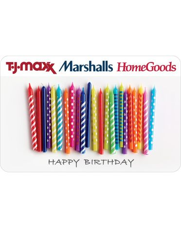 Gift Card for Marshalls, TJ Max, Home Goods $50