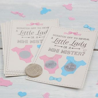 Our Gender Reveal scratch card game is a brilliant, fun way of revealing to your guests that you are having a little baby girl!