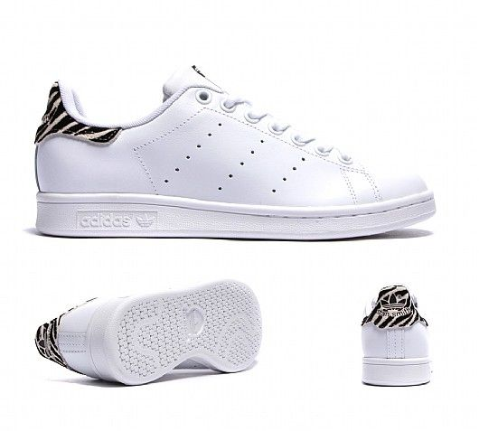 adidas Originals Womens Stan Smith Trainer | White / Zebra | Footasylum