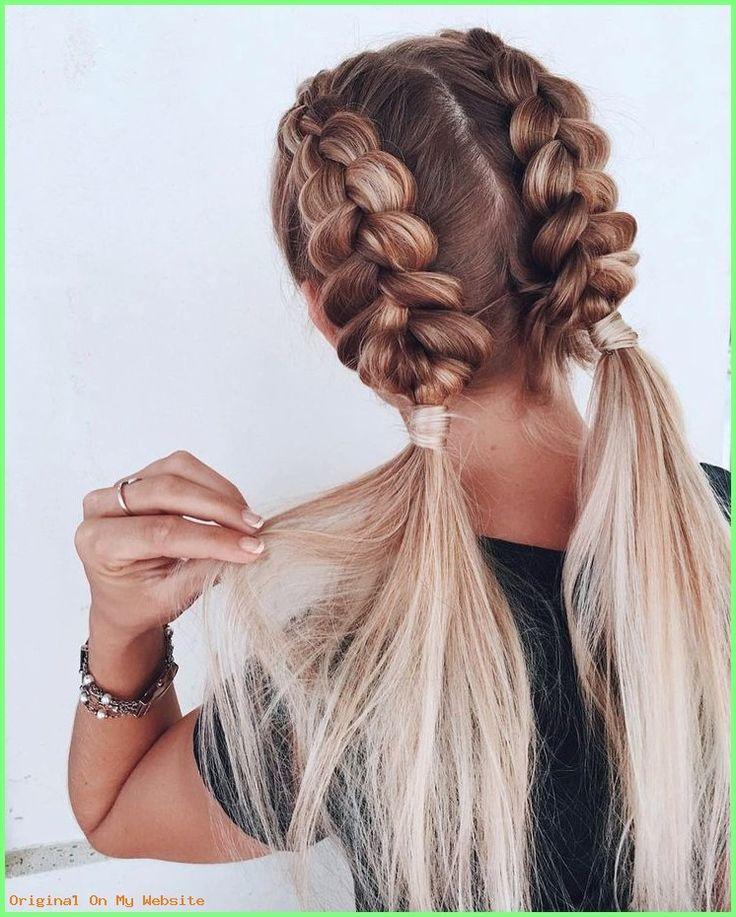 Geflochtene Frisuren – hairbykaitlynbrown #braidedhairstylesformediumhair #frisurgeflochtenm…