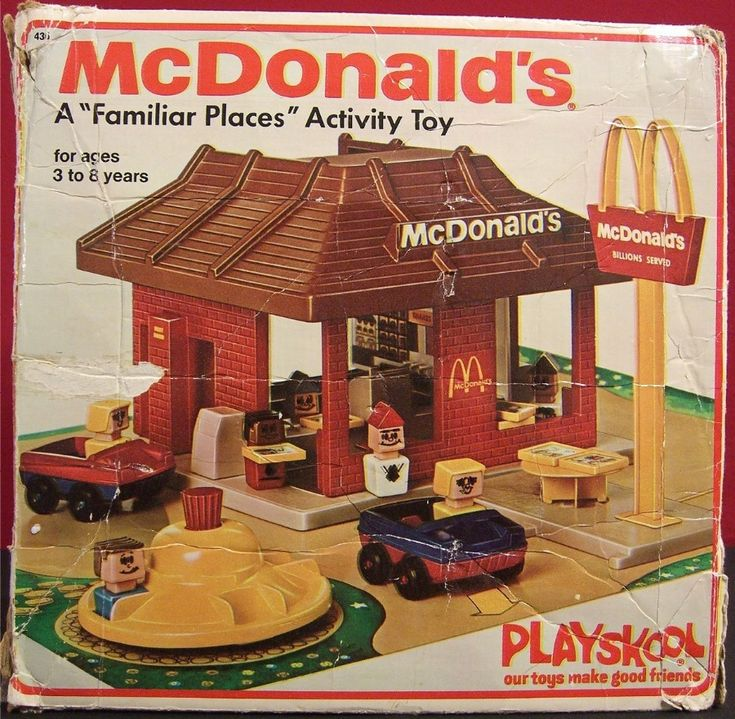 "1974 McDonald's a ""familiar places"" activity toy"