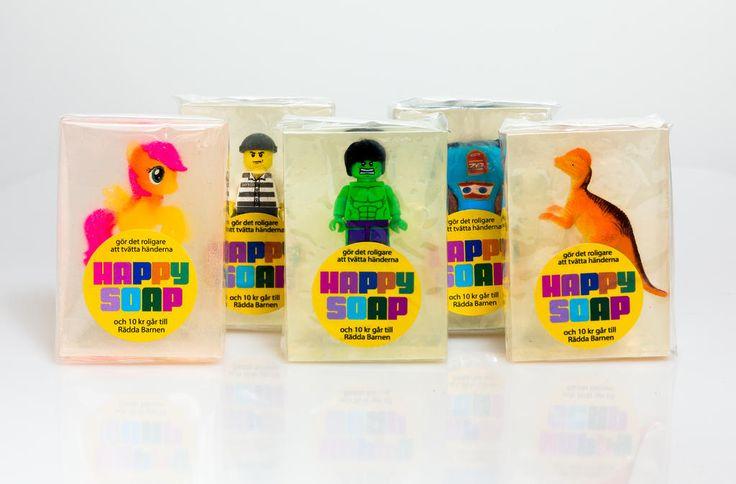 We make soap from recycled toys (and some glycerine and stuff!)